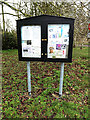 TM2396 : Village Notice Board by Adrian Cable