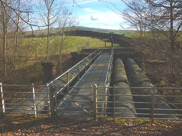 The Thirlmere Aqueduct crosses the River Sprint