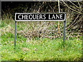TM2496 : Chequers Lane sign by Adrian Cable