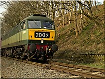 SD7914 : Class 47 Locomotive at Summerseat by David Dixon