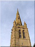 SK8608 : Church of All Saints, tower and spire by Alan Murray-Rust