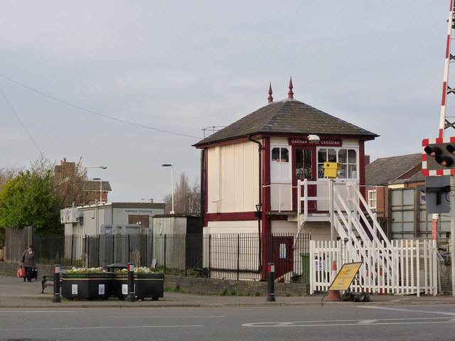 Oakham Level Crossing signal box
