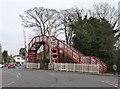 SK8508 : Oakham Level Crossing footbridge by Alan Murray-Rust