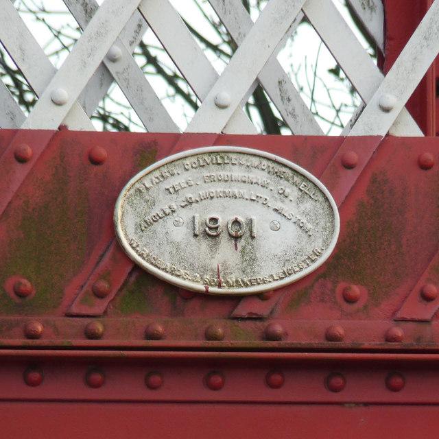 Date plate on Oakham Level Crossing footbridge