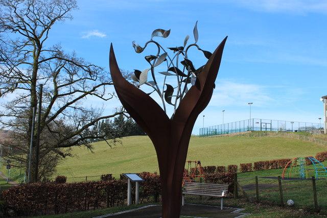 The Dalry Covenanter Sculpture, The Burning Bush