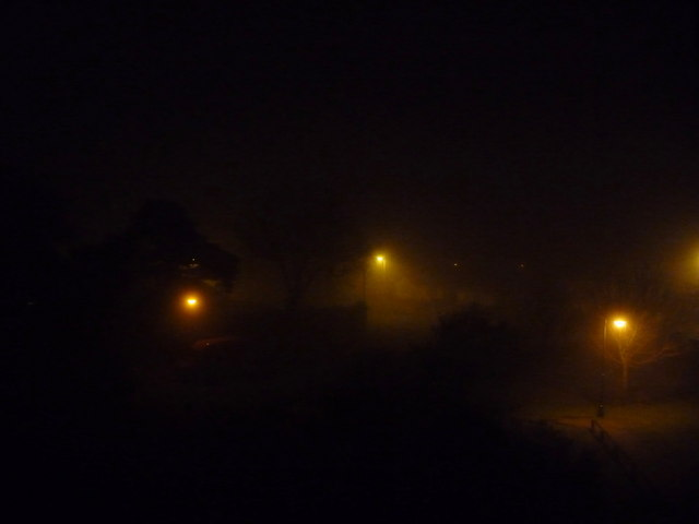 Northbourne: fog at quarter past four in the morning