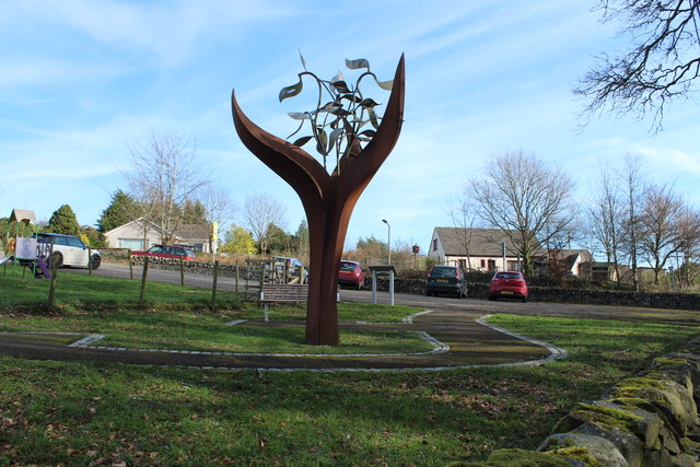 The Dalry Covenanter Sculpture, The Burning Bush