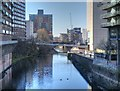 SJ8398 : River Irwell, Trinity Bridge by David Dixon