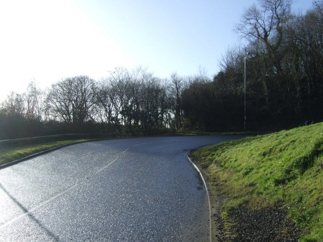 Sharp bend in the A174