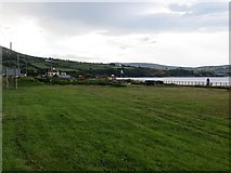 D2424 : Grass area, Waterfoot Beach by Richard Webb
