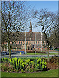 SO9098 : Park and Church by Wolverhampton Ring Road by Roger  Kidd