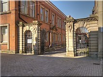 SJ8298 : Archways and Gate to Town Hall Extension by David Dixon