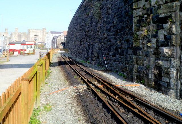 Manual points near the end of the line, Caernarfon