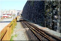 SH4862 : Manual points near the end of the line, Caernarfon by Jaggery
