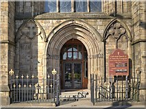 SJ8298 : Salford Cathedral Entrance on Chapel Street by David Dixon