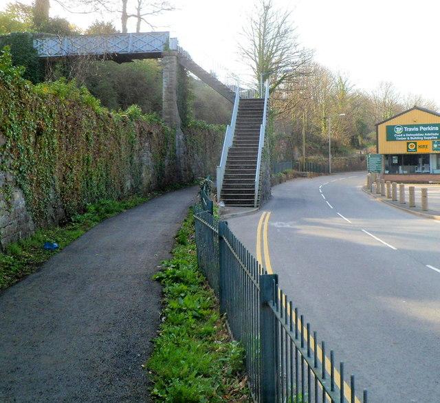 Footbridge to South Road, Caernarfon