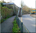 SH4862 : Footbridge to South Road, Caernarfon by Jaggery