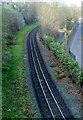SH4862 : Narrow gauge track, Caernarfon by Jaggery