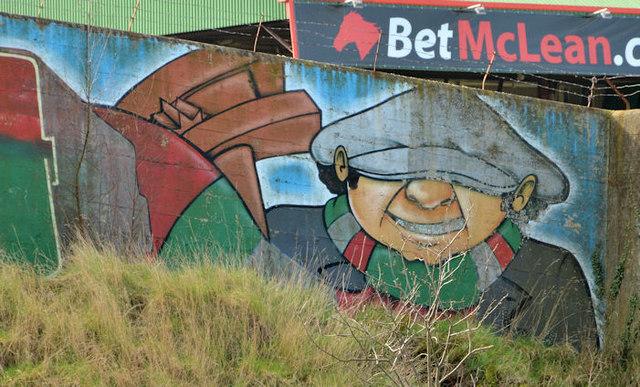 Glentoran mural, Belfast