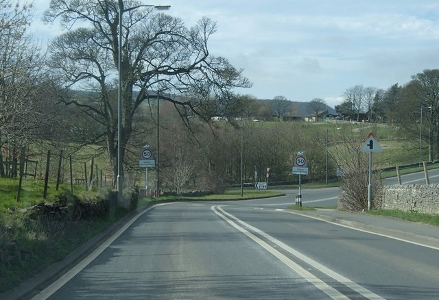 A6 leaving Bakewell