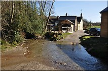 SS9531 : West Somerset : Ford at Pulham River by Lewis Clarke
