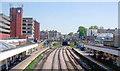 TQ6474 : Gravesend Station, view westward by Ben Brooksbank