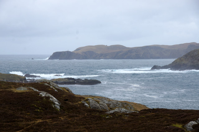 The mouth of Gunnister Voe, Northmavine