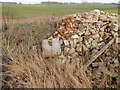 TL9543 : Rubble at Round Maple looking towards Acre Wood by Hamish Griffin