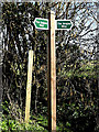 TM3689 : Angles Way footpath sign by Adrian Cable