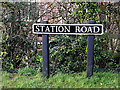 TM3891 : Station Road sign by Adrian Cable