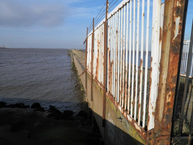 Jetty on the North Wall near Immingham