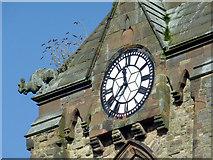 SO9098 : St Mark's Church clock in Chapel Ash, Wolverhampton by Roger  Kidd