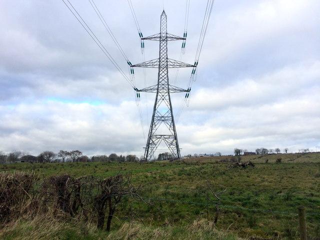 Pylon at Ballymacward Lower