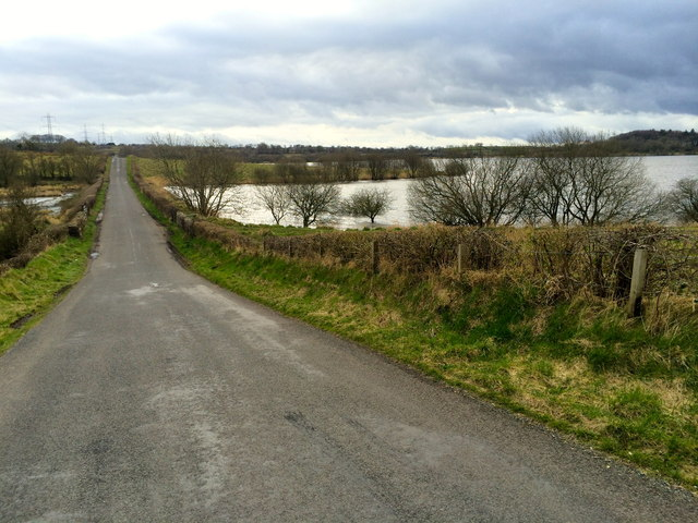 Road by the Stoneyford Reservoir