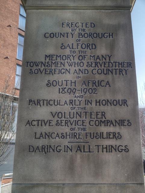 Boer War Memorial (Inscription)