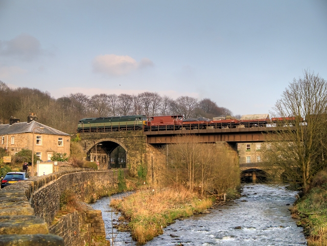 Brooksbottoms Viaduct, East Lancashire Railway