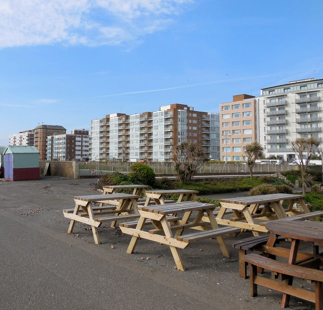Picnic tables - Hove Seafront