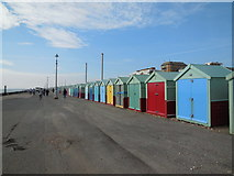 TQ2704 : Beach Huts - Western Esplanade, Hove by Paul Gillett