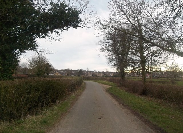 Approaching Hulland Ward from Moss Lane