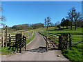 SO4200 : The drive to Church Farm, Pentre by Ruth Sharville