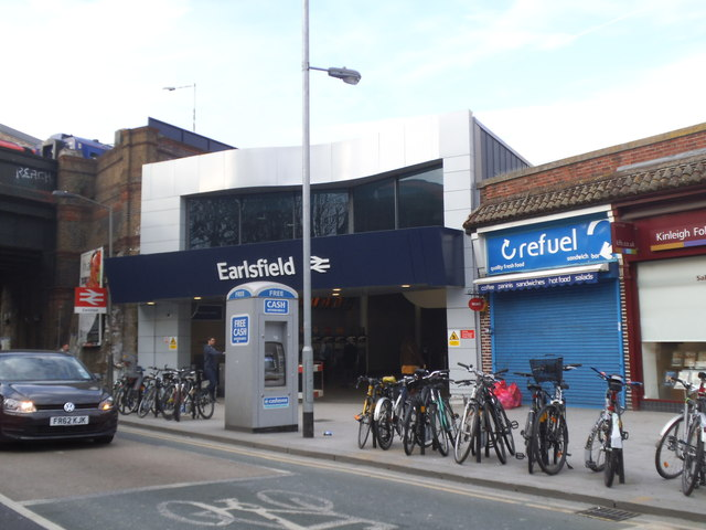 The new station building at Earlsfield