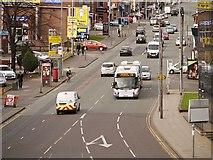 SJ8499 : Bendi-bus on Cheetham Hill Road by David Dixon