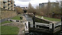 SE2833 : Lock 3, St Ann's Ing Lock, Leeds and Liverpool Canal by Chris Morgan