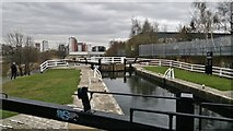 SE2833 : Lock 6, Spring Garden Lock, Leeds and Liverpool Canal by Chris Morgan