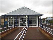 SD4364 : Morecambe Railway Station ticket office by Graham Robson