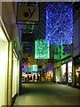 SD4761 : Christmas decorations in St Nicholas Arcade, Lancaster by Graham Robson