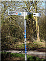 TM3693 : Roadsign on Bungay Road by Adrian Cable