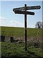 TM3793 : Roadsign on Church Road by Adrian Cable