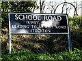 TM3793 : School Road sign by Adrian Cable