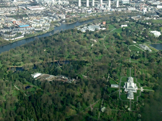 Kew Gardens from the air